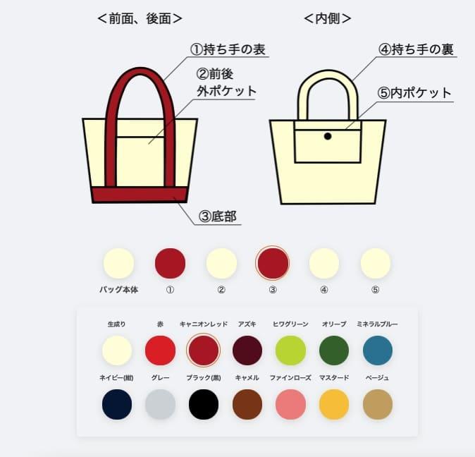 シンプルトート color